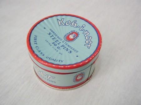 チェコスロバキア コヒノール 缶入りスチールピン