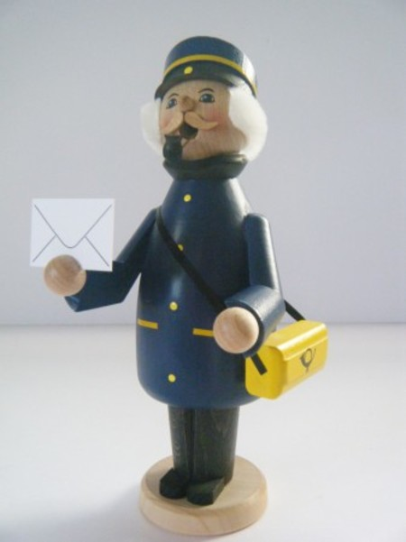 ドイツ木製パイプ人形(お香立て)郵便配達員