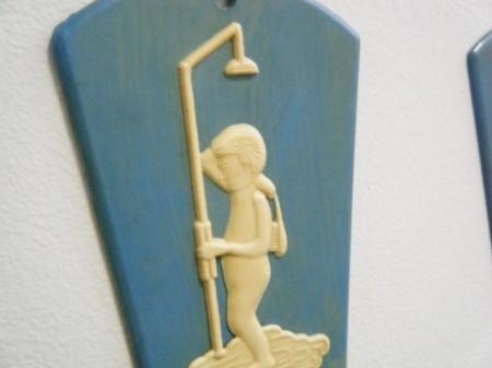 ソビエト時代のチェコ ドアサインセット(トイレット&バスルーム)