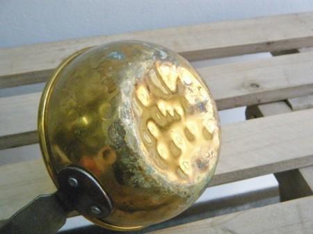 スウェーデン 真鍮ミルクパン 鉄ハンドル (ヴィンテージ品)