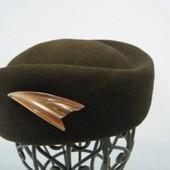 オーストリアの帽子工房ミュールバウアー 社 ヴィンテージ フェルト帽子(ブラウン)