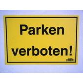 ドイツ プラスチックプレート 駐車禁止