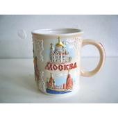 ロシア モスクワのマグカップ 白