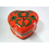 ドイツ アンティーク ハート型 陶器の小物入れ