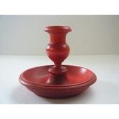 スウェーデンの木製キャンドルホルダー(赤)